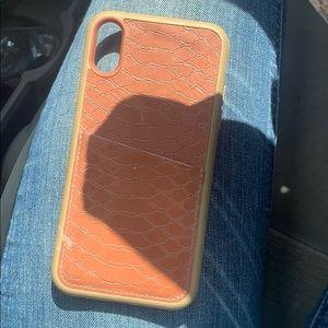 Brown Wallet iPhone XR Phone Case